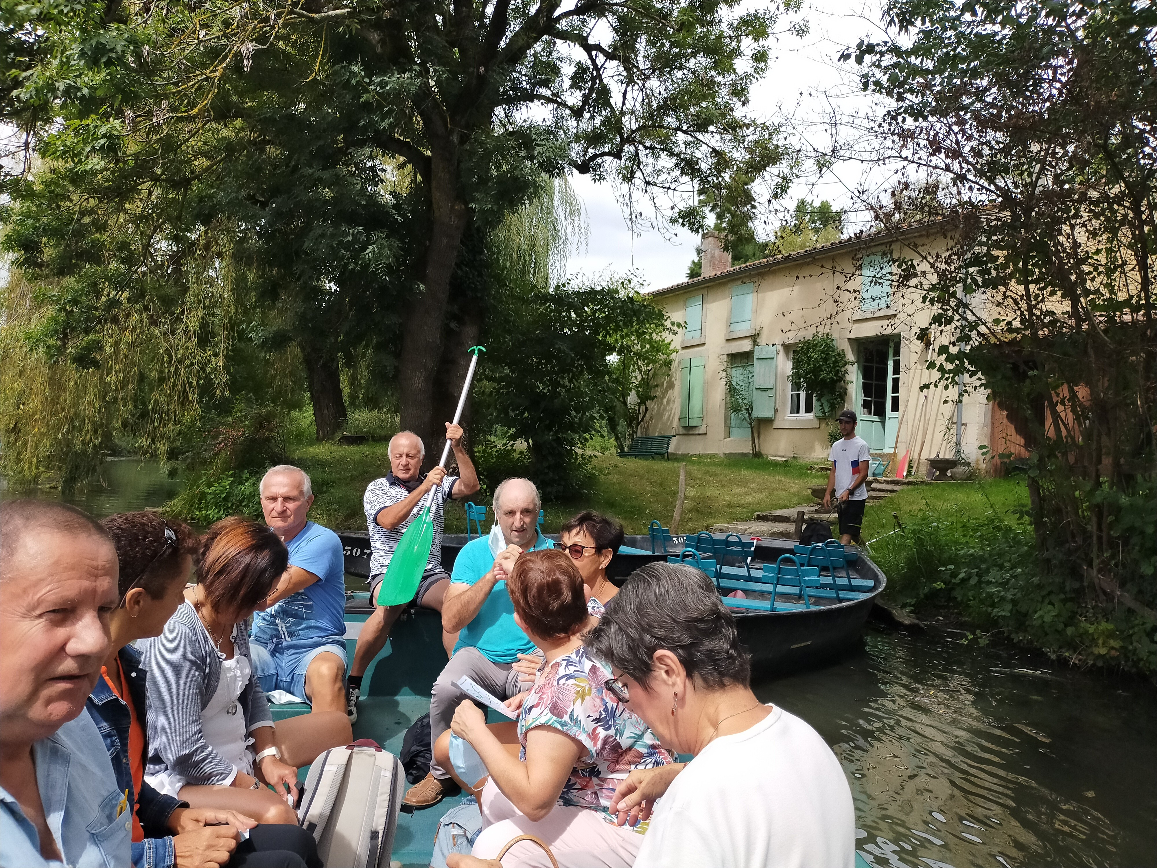 Sortie barque à ARCAIS 23/08/2020